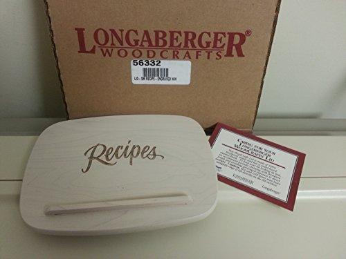 Longaberger Small Recipe Basket Woodcrafts Lid Whitewashed