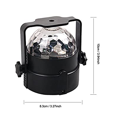 Party lights Projector 7 Colors Sound Activated with Remote, LED disco ball light Multi Color Rotating Crystal Magic Ball DJ Lights Strobe Lights Show for Dance Karaoke DJ Bar Wedding by Licool