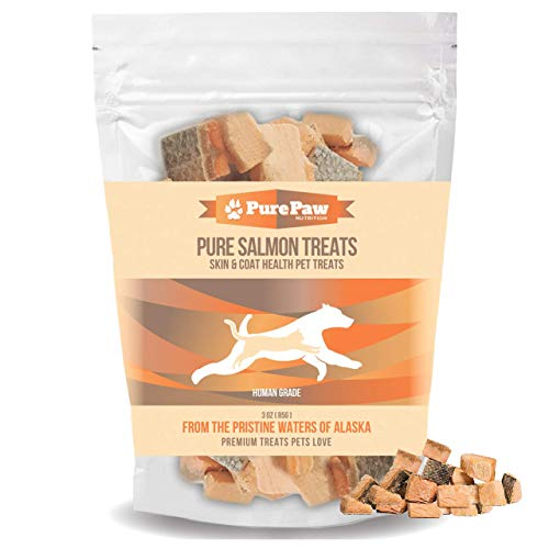 Best Paw Nutrition – Pure Salmon Treats for Dogs & Cats – Freeze-Dried, Grain-Free & All Natural – Made in The USA Only…