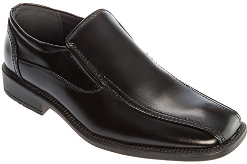 Alberto Fellini Mens Slip-On Loafer Formal Black Color PU Leather Dress Shoes Size 9.5 for Wedding Party Office Work Church Or Other Formal Event