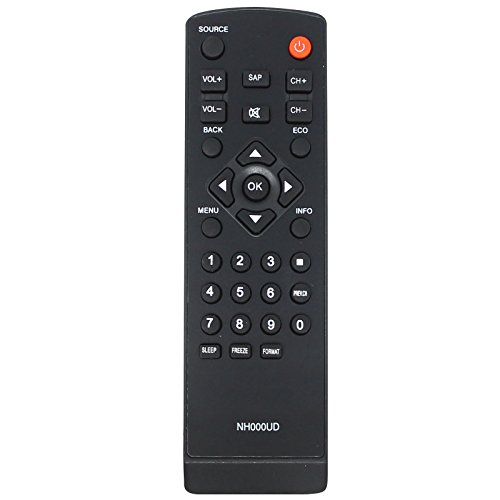 Replacement HDTV Remote Control for LC320EM2, LC320EM1F, LC320EM2F, LC320SL1, LC320SLX, LC320EMX, LC320EMXF, LC195EMX, LC320EM1, LC195SLX - Compatible with NH000UD Emerson & Sylvania TV Remote Control (Remote Control Emerson Lc320em1)