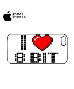 I Love 8 Bit Retro 90's 80's Mobile Cell Phone Case Cover iPhone 4&4s White