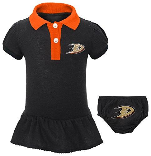 "Price comparison product image NHL Anaheim Ducks Newborn & Infant ""Little Prep"" Polo & Diaper Cover Set, 18 Months, Black"