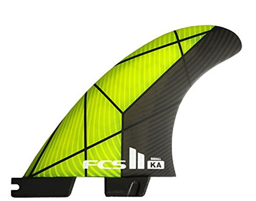 FCS 2 KA PC Tri-Fin Set, Small, Yellow/Gray by FCS II