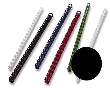 GBC BX211970 Plastik-Binderücken für Stanz-/Bindemaschine, A4, 21 Ringe, 19 mm, 100 Stück weiß ACCO Brands