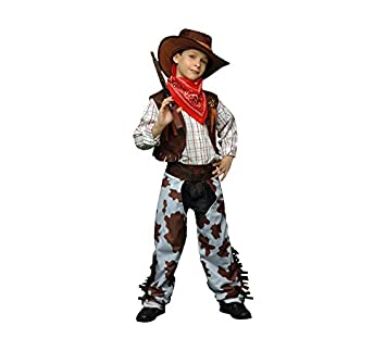 DISFRAZ VAQUERO MARRON-BLANCO TALLA 10-12 AÑOS: Amazon.es ...