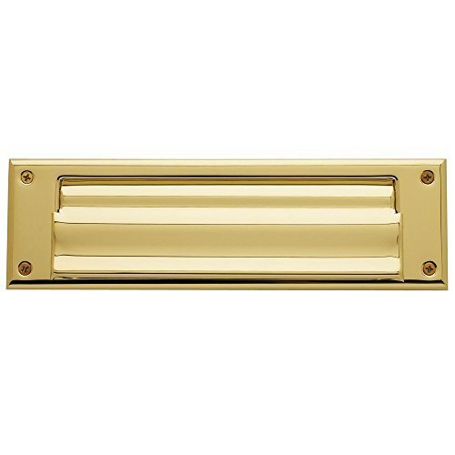 Baldwin Magazine - Baldwin 0017.003 Hinged Magazine Size Letter Box Plate, Lifetime Polished Brass by Baldwin