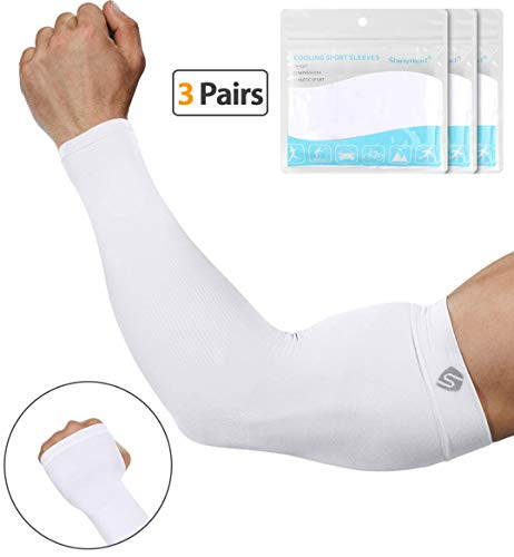 SHINYMOD UV Protection Cooling or Arm Warmer Sunblock Sleeves for Men Women