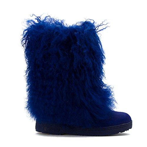 Bearpaw Damen Boetis II Stiefel aus Kalbsleder Kobaltblau