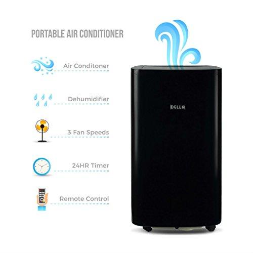 14,000 BTU Portable A/C Air Conditioner + Fan Dehumidifier A
