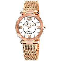 Stainless Steel Watches Women Ladies Casual Dress Quartz Wrist Watch,Outsta Quartz Round Case Watch Hot!!! (Rose Gold)