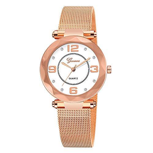 Fossil Gold Mens Bracelets - Stainless Steel Watches Women Ladies Casual Dress Quartz Wrist Watch,Outsta Quartz Round Case Watch Hot!!! (Rose Gold)