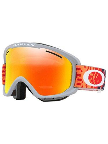 Oakley Red Ski Goggles (Oakley O-Frame 2.0 XM Snow Goggles, Pixel Fade Red Fathom Frame, Fire Iridium Lens, Medium)