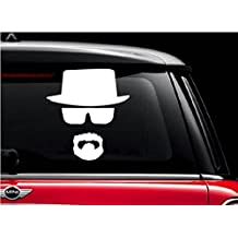 Breaking Bad Heisenberg Face Vinyl Decal Sticker Cars Trucks Walls Laptop WHITE   5 In  KCD487