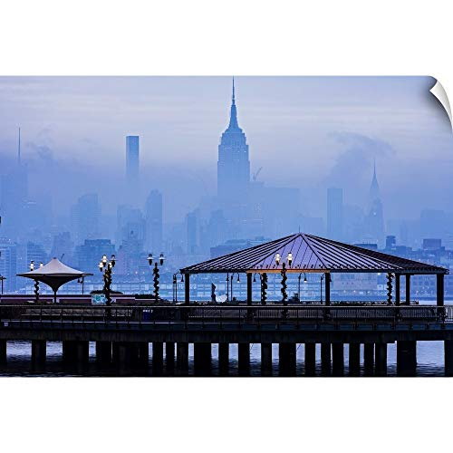 CANVAS ON DEMAND Empire State Building in A Foggy Morning Wall Peel Art Print, 18