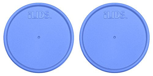 ILIDS Mason Regular Mouth Jar Storage Lid, Periwinkle, Pack of 2