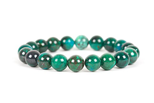 Chrysocolla Bracelet, Stress Management Bracelet, Leo Birthstone Bracelet