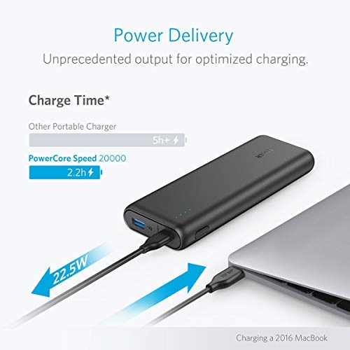 Anker PowerCore Speed 20000 PD, 20100mAh Portable Charger & 30W Power Delivery Wall Charger Bundle, Input & Output Type C Power Bank for MacBook Air/iPad Pro 2018, Nexus 6P, iPhone 8/X, MacBooks, S10