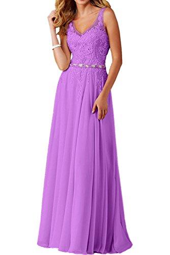 mia Spitze Damen Champagner Braut Violett Spitzenkleider Abendkleider Ballkleid Festkleider La Jugendweihe Lang Kleider 6qAUxAwT
