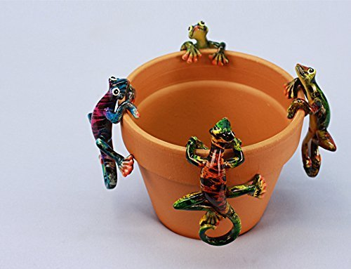 Gecko Pot Hanger - Glossy Gecko Pot Hangers (Set of 4) Wholesale Lot of 18 Sets (18)