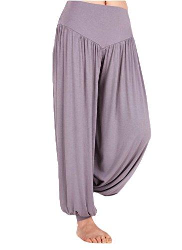 Andyshi de mujer Deporte Danza Harén Pantalones suave Modal Yoga desgaste pantalones Bloomers gris oscuro