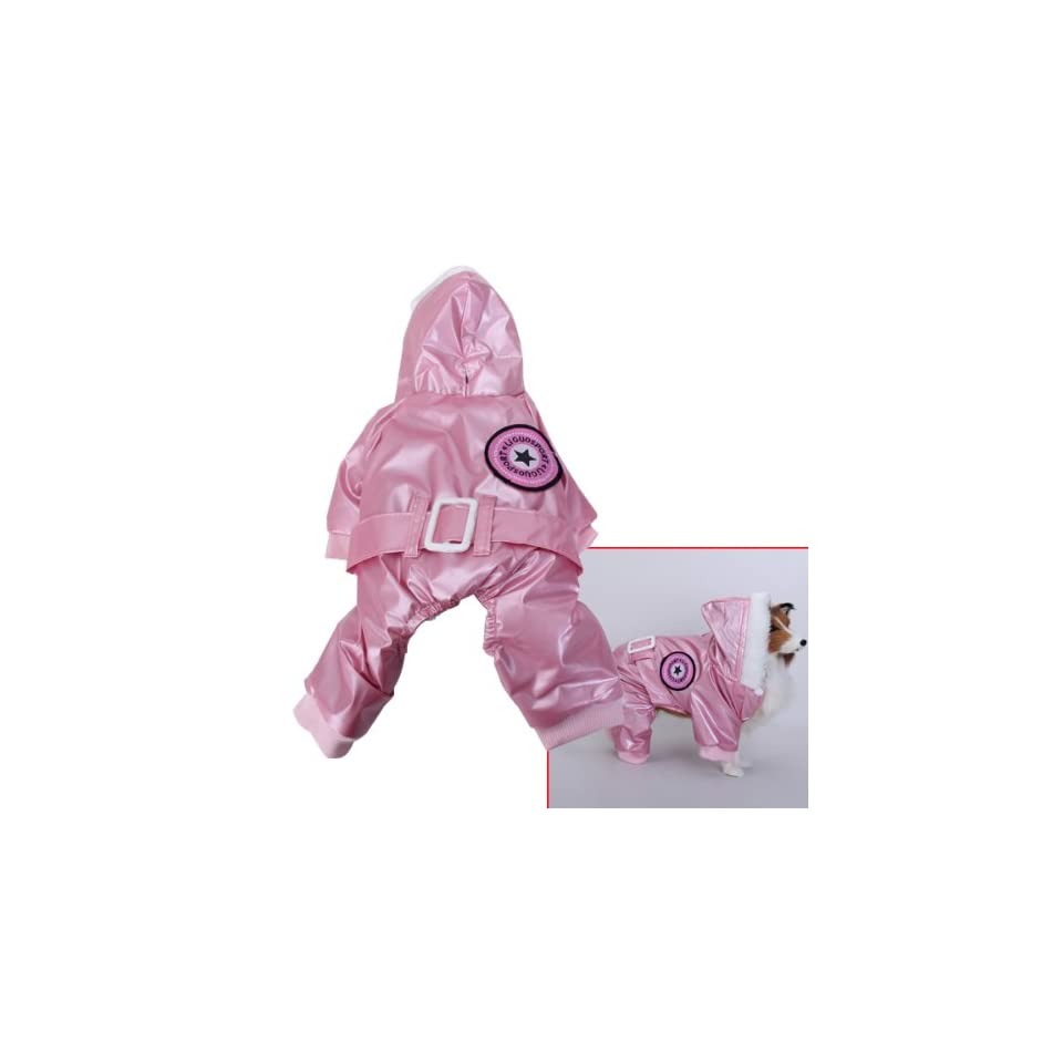 Pink Pet Dog Hoodie Hooded Winter Coat Jacket Jumpsuit   Size XL