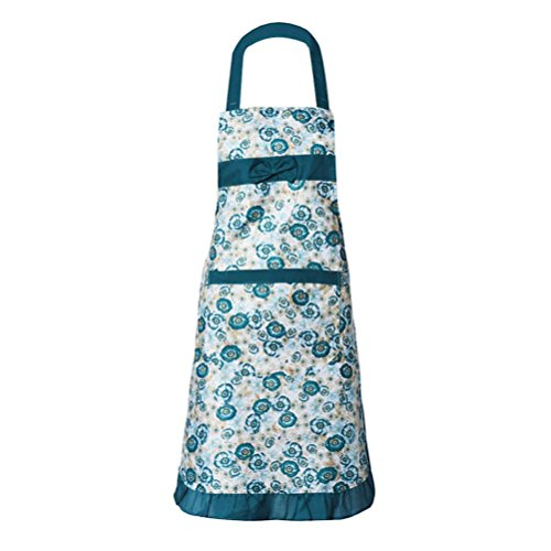 [Iuhan Fashion Womens Kitchen Restaurant Bib Cooking Aprons Pockets Apron (Green)] (1950s Geek Costume)