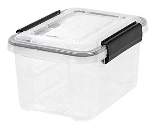 IRIS 6.5 Quart WEATHERTIGHT Storage Box, Clear (Weatherproof Storage)