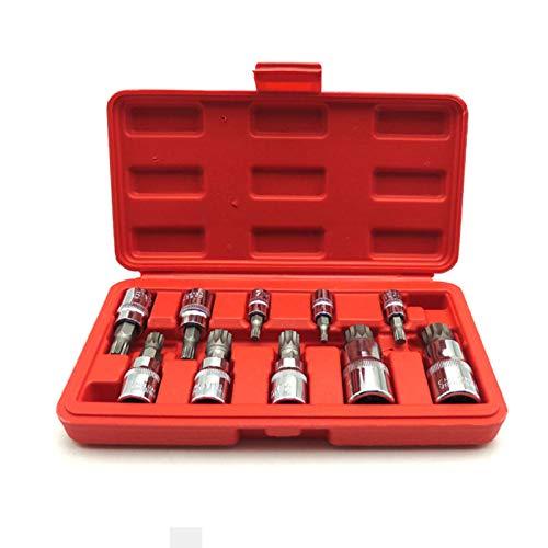 3//8,1//2 Pulgadas 4mm-18mm Andifany 10 Piezas Juego de Llaves Allen Ead Conjunto de Z/ócalo de Broca de Ranura Cuadrada Triple Para Prueba de Manipulaci/ón Tuercas de Tornillo 1//4