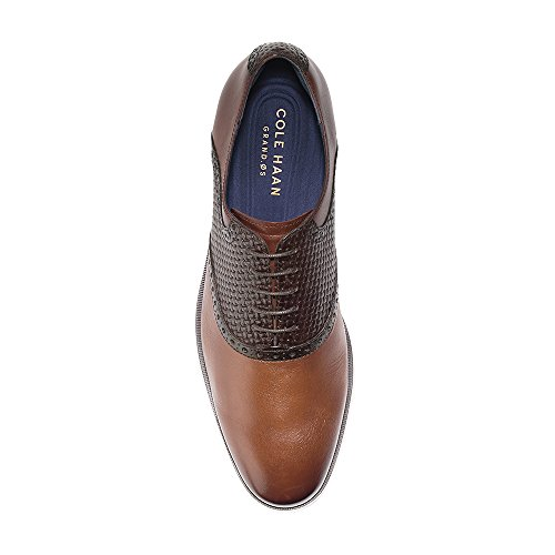 free shipping brand new unisex discount hot sale Cole Haan Men's Jefferson Grand Saddle Ox Ii Woodbury/Rum Raisin Woven 9EltTUc