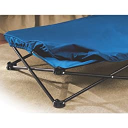 Regalo My Cot Blue Portable Folding Travel Bed with Travel Bag - Includes a Convenient Carrying Case, Blue