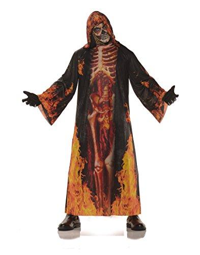 Underwraps Men's Horror Skeleton Robe ()