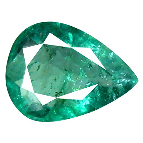 0.51 ct Pear Cut (7 x 5 mm) Unheated/Untreated Colombian Emerald Natural Loose Gemstone