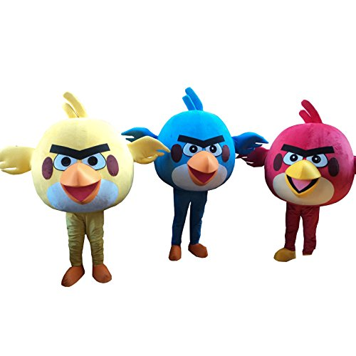 Angry Birds Bird Halloween Adult Mascot Costume Fancy Dress Cosplay Outfit (Red)