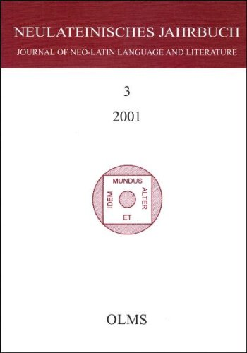 Download Neulateinisches Jahrbuch, Journal of Neo-Latin Language and Literature: Vol 3 (German and French Edition) pdf