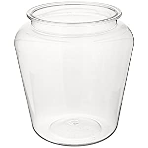 Koller Products 1-Gallon Fish Bowl, Shatterproof Plastic with Crystal-Clear Clarity, 7.25 DIA x 8 H Inches 12