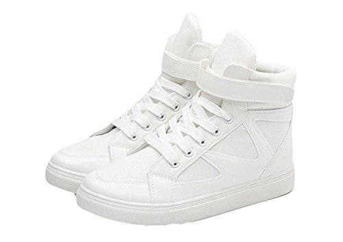King Ma Women's Fashion Velcro Strap High Top Sneaker Casual Sport Shoes
