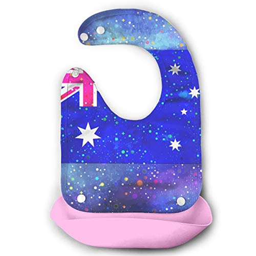 Australia Flag Starry Flag Baby Bibs Waterproof For Babies And Toddlers Easily Wipes Clean Comfortable Soft (Best Baby Wipes Australia)