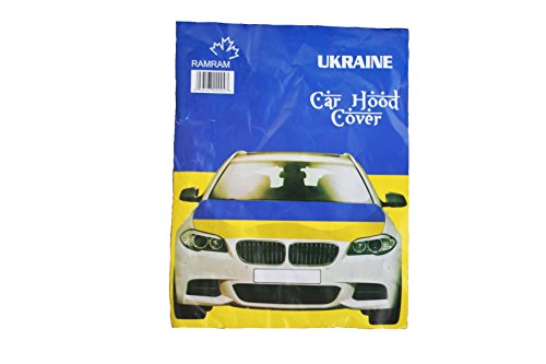 (Ukraine Country Flag FIFA Soccer World Cup CAR HOOD COVER .. High Quality .. New)