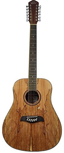 Oscar Schmidt OD312SM Spalted Maple Top 12-String Dreadnought Acoustic Guitar (Top Dreadnought Acoustic Guitar)