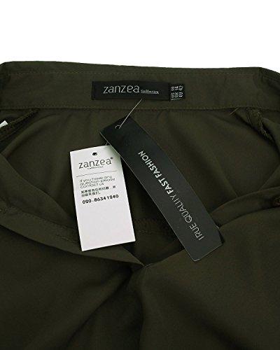 ZANZEA - Camisas - para mujer Ejercito Verde