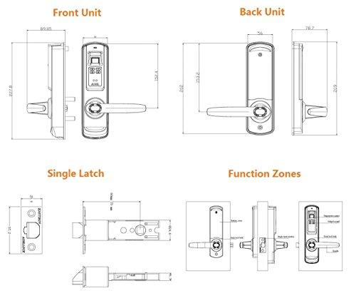 Adel 5600 Reversible Handle Keyless Biometric Trinity