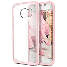 Galaxy S6 Edge Case, Verus [Clear Drop Protection] Samsung Galaxy S6 Edge Case [Crystal Mixx][Baby Pink]