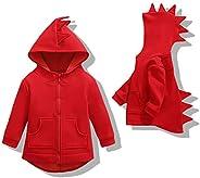 Oeillet d'ne Toddler Boys Hoodies Dinosaur Animal Zipper Jacket Cartoon Sweatshirt for