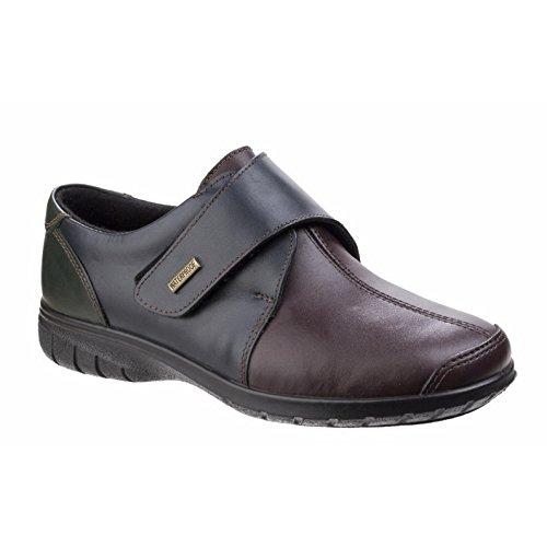 Cotswold Damen Cranham Leder Schuhe Wasserdicht Halbschuhe Klettverschluss Multi