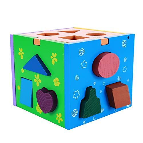 la mejor selección de Taluoahc Niños en en en Edad Preescolar 13 Hoyos de Madera en Forma de Caja emparejados Juegos de Rompecabezas Juego de Rompecabezas cognitivo Juguetes para niños Que aprenden Juguetes educativos  para mayoristas