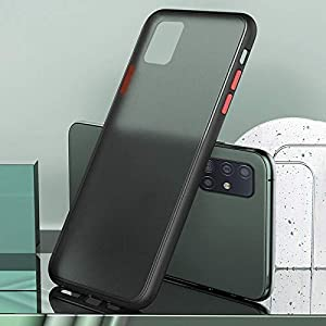 M7 Back Cover for Samsung A51(TPU; Poly Carbonate/Black)