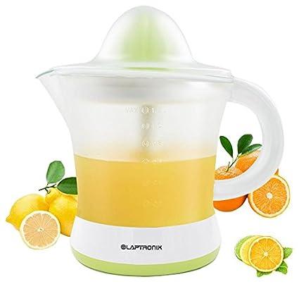 Laptronix 1.2L eléctrico cítricos exprimidor Extractor de jugo de naranja Exprimidor, 25 W)