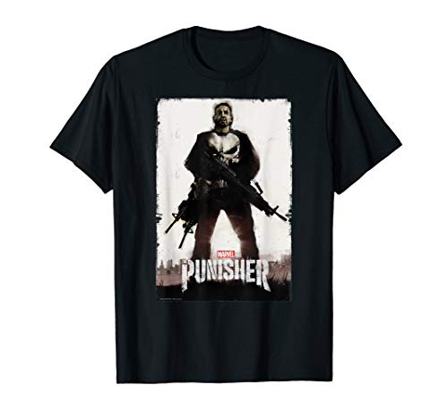 Marvel The Punisher Distressed Poster Art Graphic T-Shirt