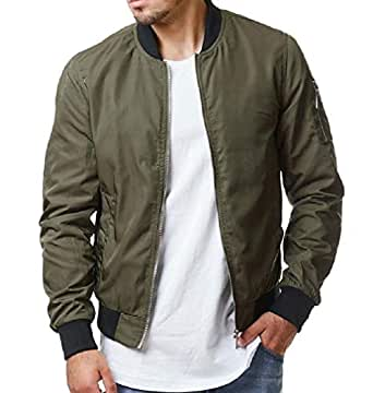 Howely Men Outwear Plus Size Solid Tailored Fit Parka Hoodie Jackets Army Green S